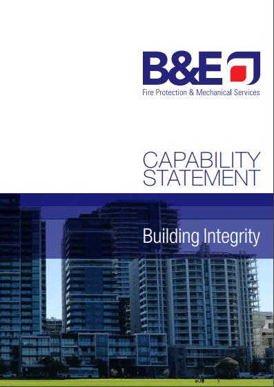 B&E Fire Capability Statement