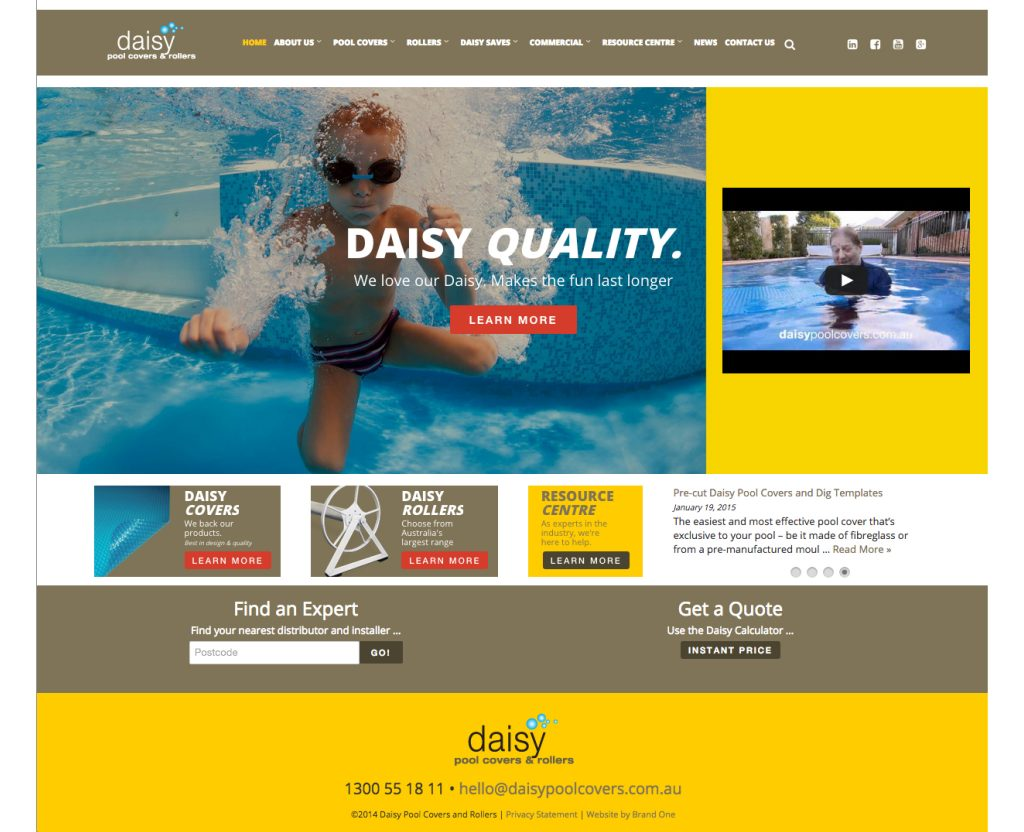 Daisy Pool Covers and Rollers